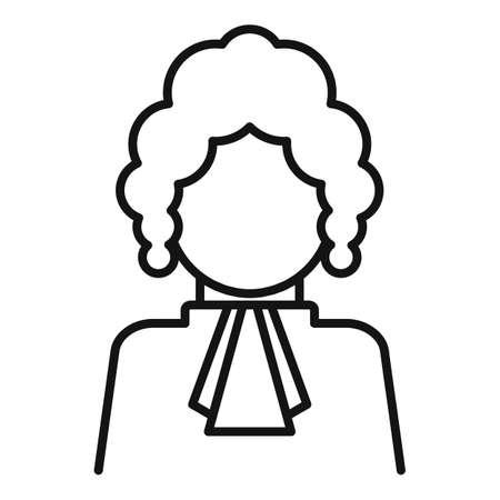 Judge person icon, outline style Stockfoto