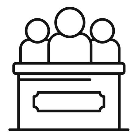 Law tribune icon, outline style Stockfoto
