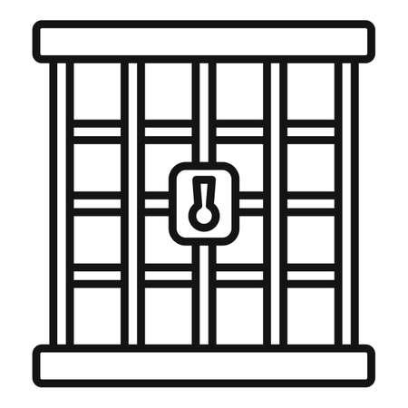 Prison gate icon, outline style 版權商用圖片