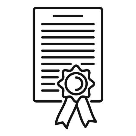 Lawyer diploma icon, outline style