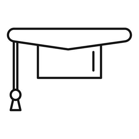 Graduated hat icon, outline style