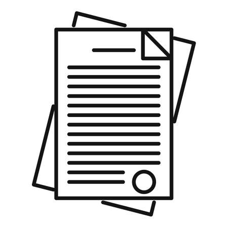 Police documents icon, outline style