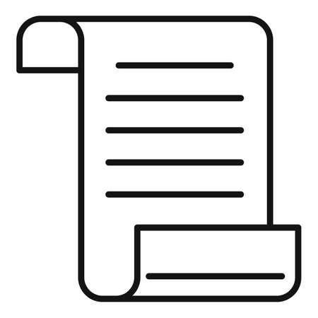 Crime description paper icon, outline style Stockfoto