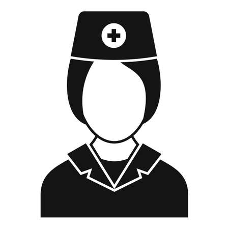 Nurse character icon, simple style