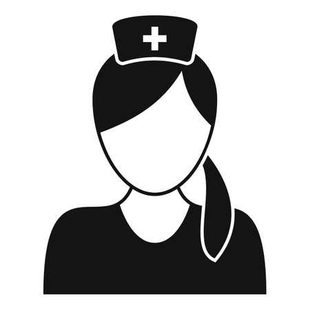 Professional nurse icon, simple style
