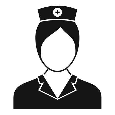 People nurse icon, simple style 免版税图像