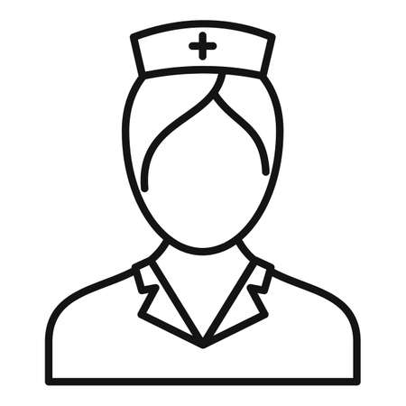 People nurse icon, outline style