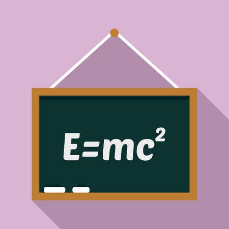 School lesson board icon, flat style 版權商用圖片
