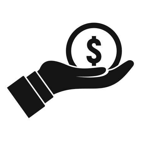 Keep care money transfer icon, simple style