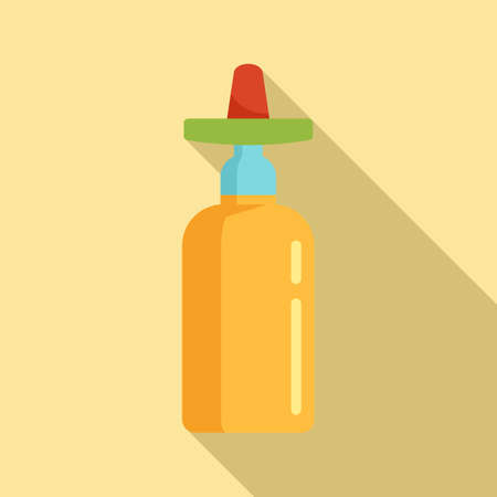 Mexican tequila icon, flat style