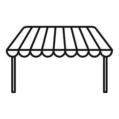 Outdoor parasol icon, outline style