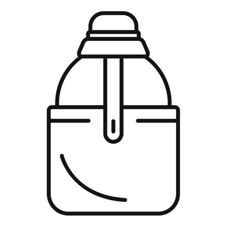 Water flask icon, outline style 版權商用圖片