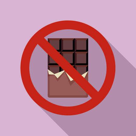 No chocolate bar icon, flat style
