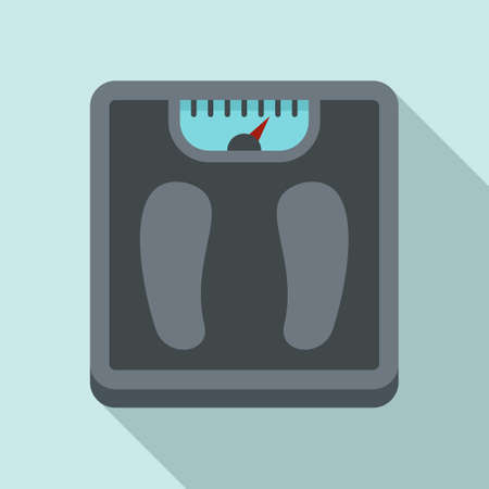 Man scales icon, flat style