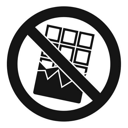 No chocolate bar icon, simple style 版權商用圖片