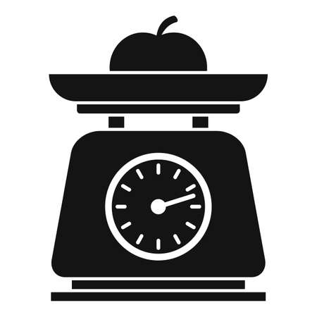Fruit kitchen scales icon, simple style