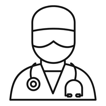 Medical surgical doctor icon, outline style