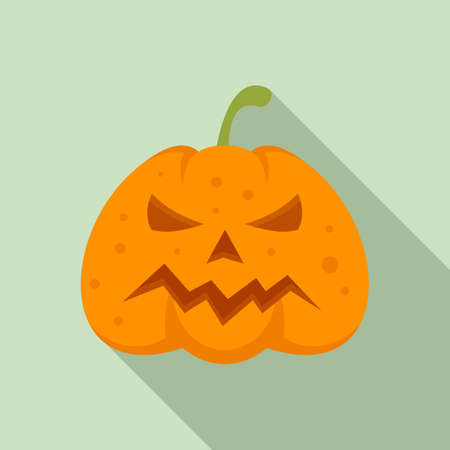 Squash pumpkin icon, flat style