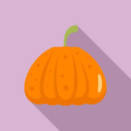 Jack pumpkin icon, flat style