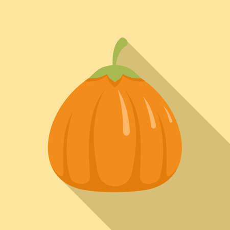 Art pumpkin icon, flat style
