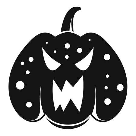 Halloween pumpkin icon, simple style