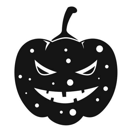Lantern pumpkin icon, simple style