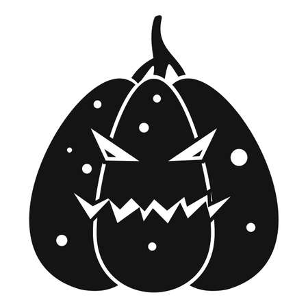 Smile pumpkin icon, simple style 免版税图像