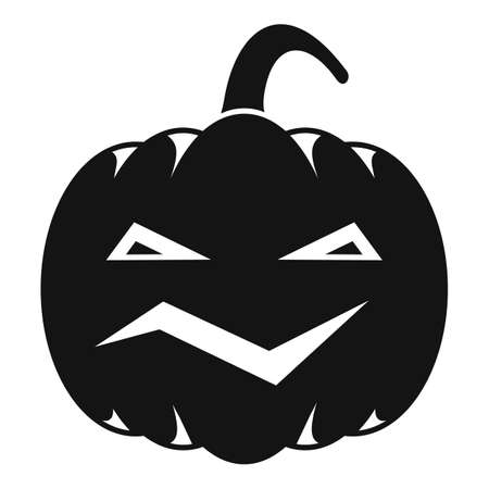 Carving pumpkin icon, simple style