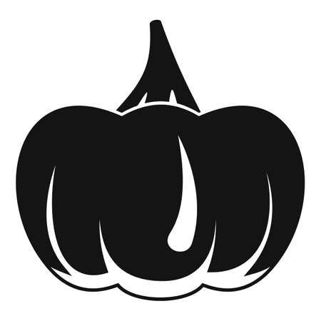Evil pumpkin icon, simple style