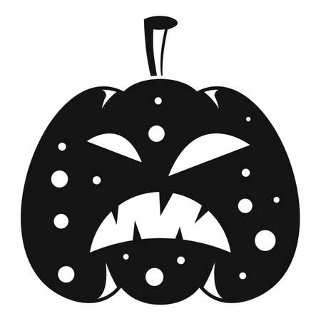 Pumpkin icon. Simple illustration of pumpkin icon for web design isolated on white background 免版税图像