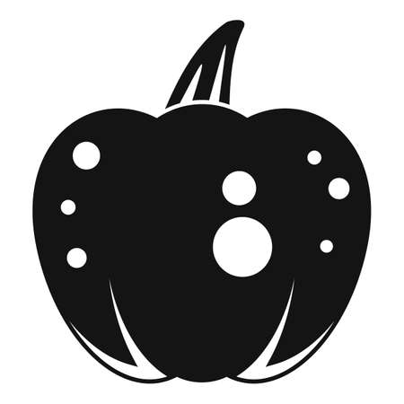 Fear pumpkin icon, simple style