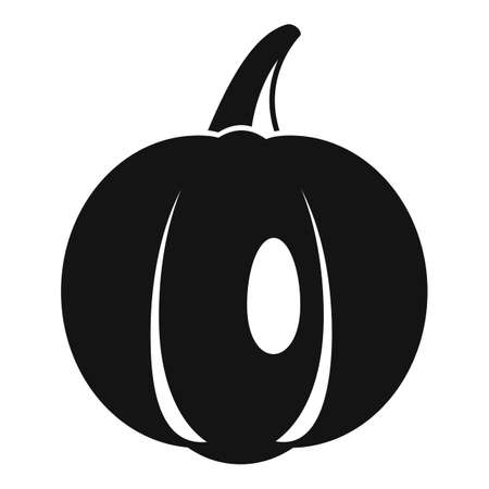 Field pumpkin icon, simple style