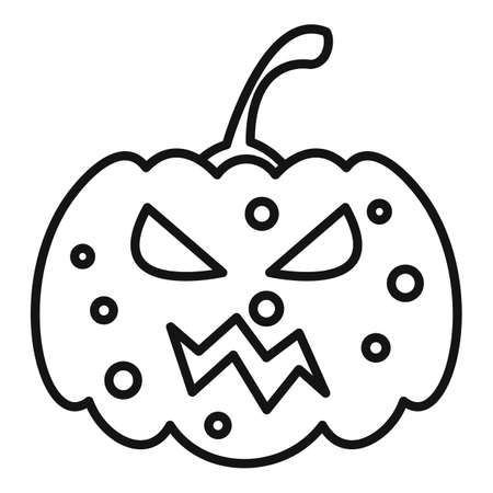 Pumpkin icon, outline style