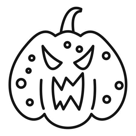 Squash pumpkin icon, outline style