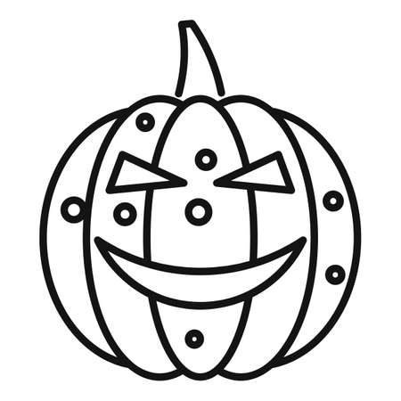 Vegetable pumpkin icon, outline style Stok Fotoğraf