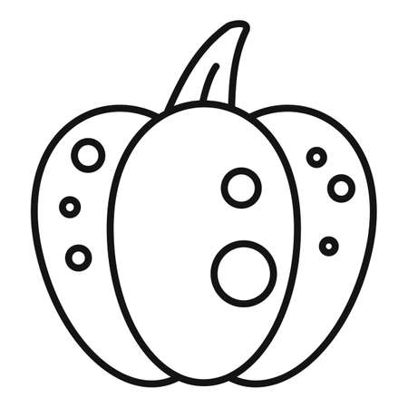 Celebration pumpkin icon, outline style Stok Fotoğraf