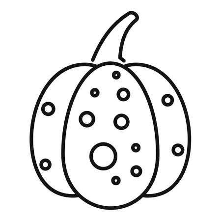 Jack pumpkin icon, outline style 免版税图像