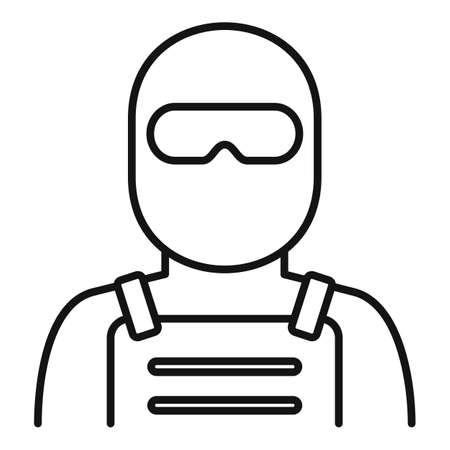 Police special forces icon, outline style