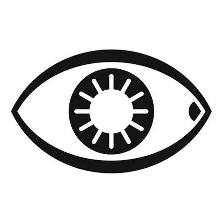 Healthy human eye icon, simple style
