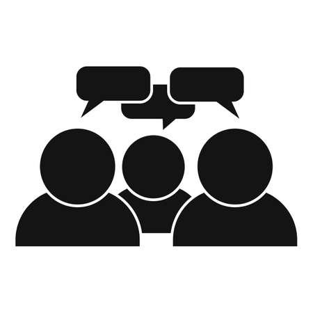 Teamwork conversation icon, simple style