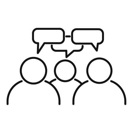 Teamwork conversation icon, outline style