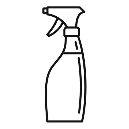 Disinfectant spray bottle icon, outline style