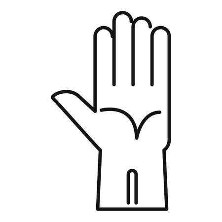 Rubber glove icon, outline style