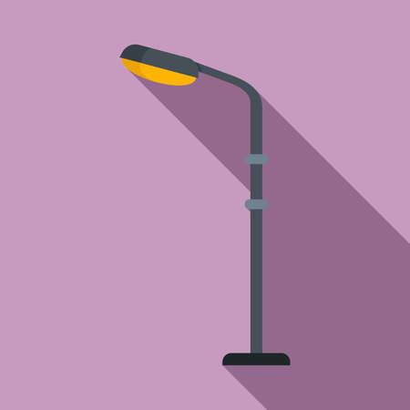 Light street pillar icon, flat style