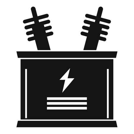 Electric icon, simple style Stock fotó