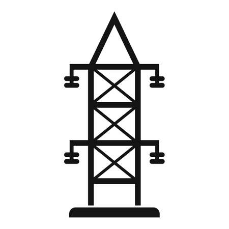 Electric tower icon, simple style