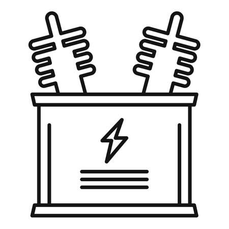 Electric icon, outline style