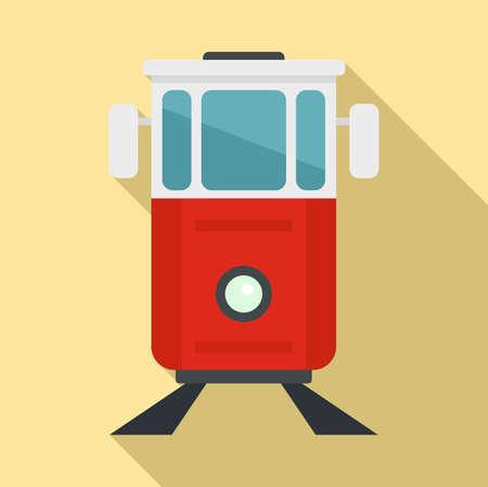 Turkish tramway icon, flat style