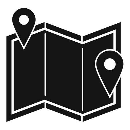 Road repair map icon, simple style 版權商用圖片