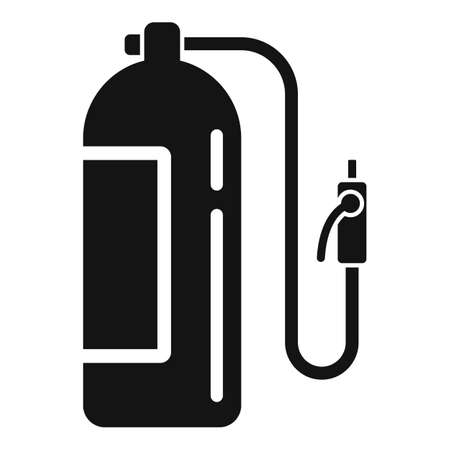 Gas balloon cylinder icon, simple style 版權商用圖片